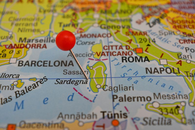 Cartina Sardegna 2017.Cartina Sardegna Mappa Della Sardegna Sardegnablu It